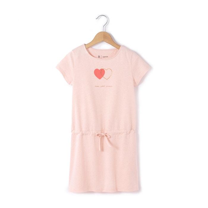 Imagen de Vestido con corazones entrelazados de manga corta 3-12 años R essentiel