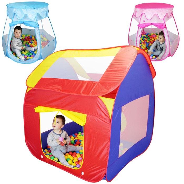 tente de jeu enfants pliable 200 balles et sac de. Black Bedroom Furniture Sets. Home Design Ideas