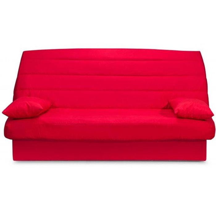 Banquette clic clac 3 places mousse haute r silience rouge noemie rouge decli - Banquette clic clac la redoute ...