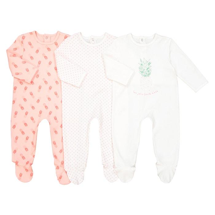 Confezione da 3 pigiama in cotone da 0 mesi a 3 anni Oeko Tex  La Redoute Collections image 0
