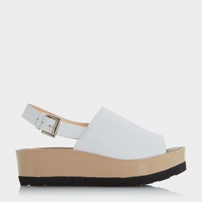 Sandales plateformes à deux tons et bride arrière Moins Cher Pas Cher En Ligne ZeGVMa