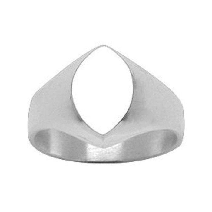 Acheter Pas Cher Nouveau Chevalière bague anneau ovale argent 925 couleur unique So Chic Bijoux | La Redoute Livraison Rapide Prix Pas Cher vi1JJzH