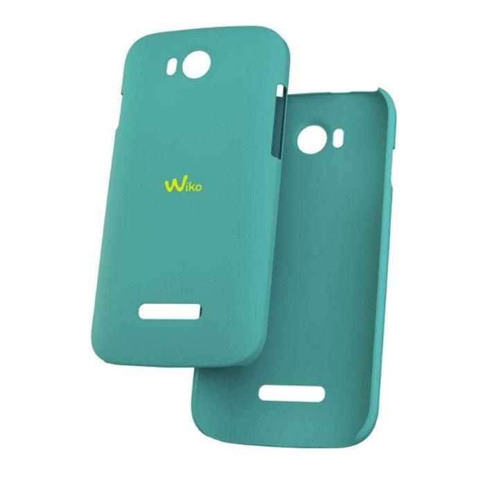 Wiko coque ultra slim d'origine turquoise pour Wiko Iggy