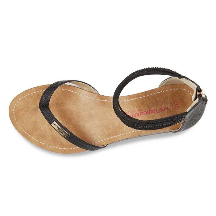 Sandales cuir gingko noir Les Tropeziennes Par M Belarbi