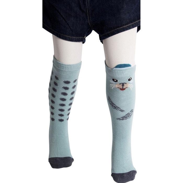 chaussettes hautes phoques bleu clair despasray s la redoute. Black Bedroom Furniture Sets. Home Design Ideas