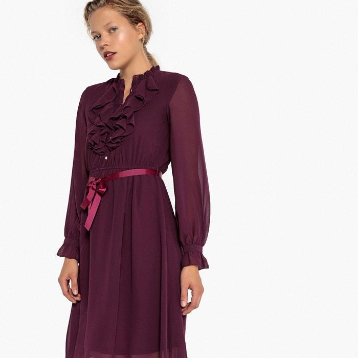 Платье из вуали, расклешенное, с длинными рукавами, длина миди  MADEMOISELLE R image 0