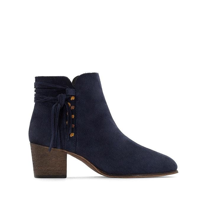 Eastbay Pas Cher Moins De 70 Dollars La Redoute Boots cuir détail tresse FawGhEKor