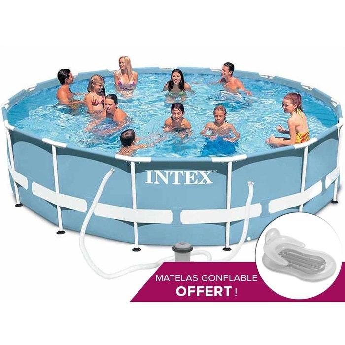 piscine tubulaire intex prism frame ronde 4 57 x 1 07 m couleur unique intex la redoute. Black Bedroom Furniture Sets. Home Design Ideas