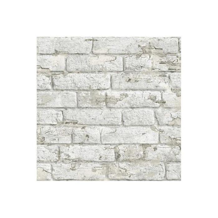 Papier Peint Briques Ecaillees Blanches Adonis Koziel La Redoute