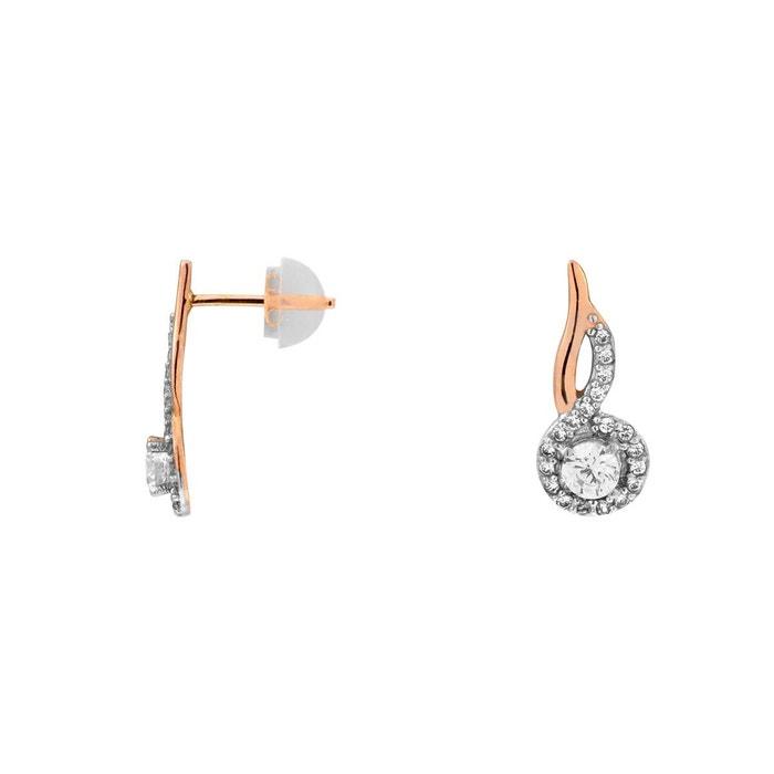 Meilleure Vente En Gros En Ligne Boucles oreilles or 375/1000 oxyde blanc Cleor | La Redoute Achat Vente 9yAfExj