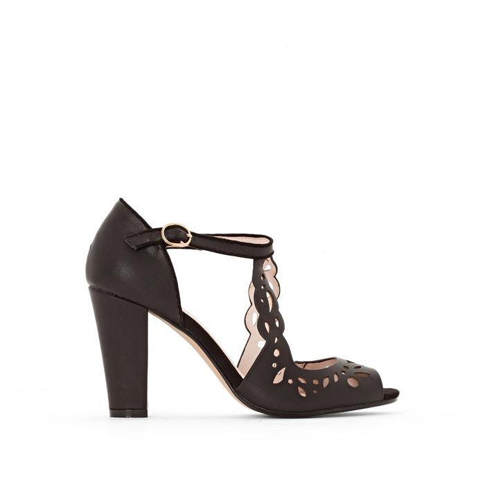 afbeelding Geperforeerde sandalen met hoge hak MADEMOISELLE R