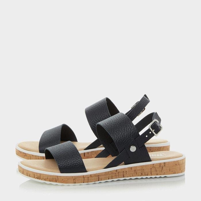 Sandales à plateformes et semelles en liège - logo Dune London