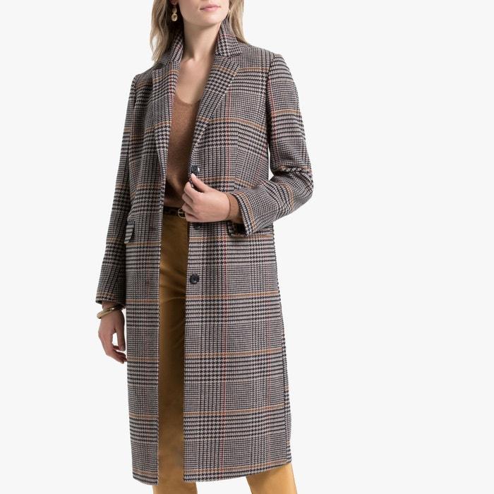 best website ed13f 13481 Cappotto lungo a quadri, chiusura con bottoni