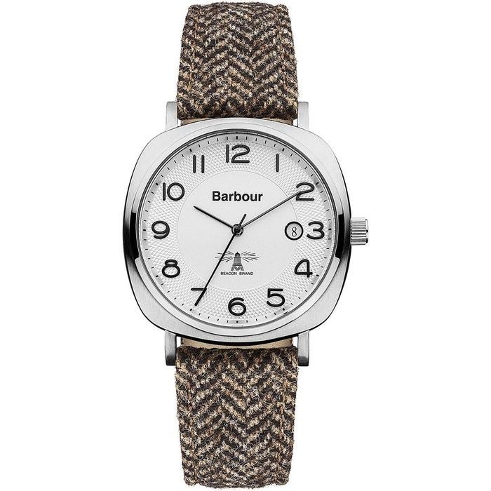 Montre homme analogique bracelet cuir véritable boitier 42x49 beacon marron Barbour | La Redoute Sortie D'usine GdCTyKSx
