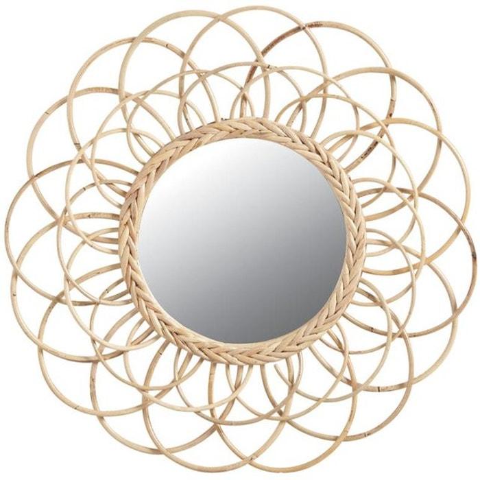 Miroir en rotin Fleur AUBRY GASPARD