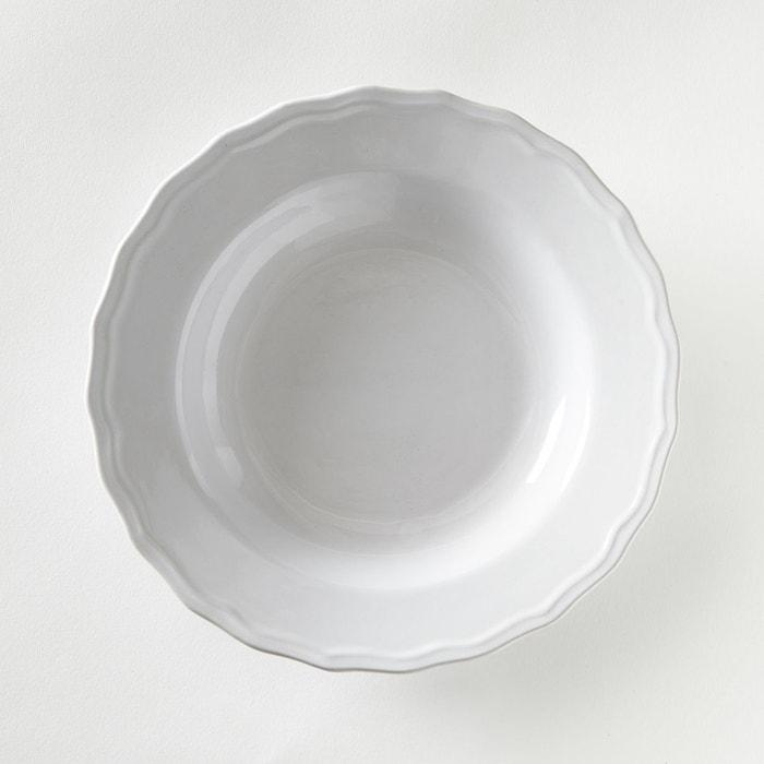 lot 4 assiettes creuses festonn es ajila la redoute interieurs la redoute. Black Bedroom Furniture Sets. Home Design Ideas