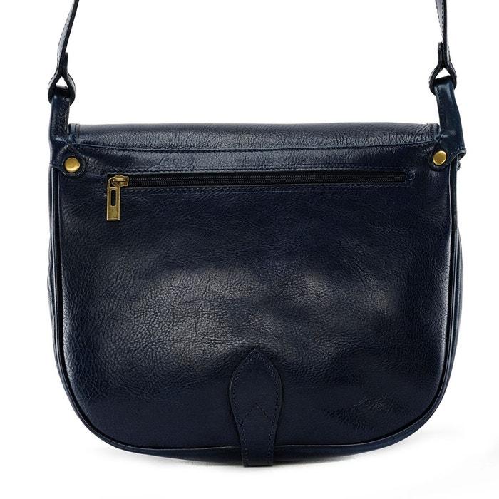 Oh My Bag Sac à main Sac à main femme cuir lisse - Modèle Verlaine cognac foncé Oh My Bag So5lLVqls