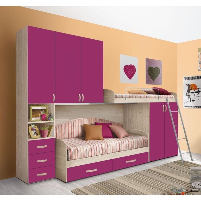 Chambre d\'enfant complète hurra combiné lits étages décor orme ...