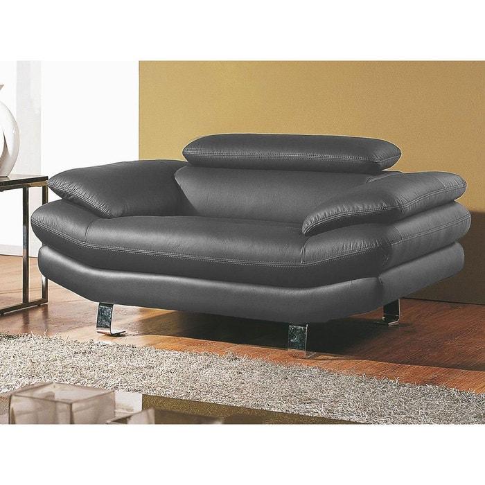 fauteuil en cuir carlton gris souris la maison du canape. Black Bedroom Furniture Sets. Home Design Ideas