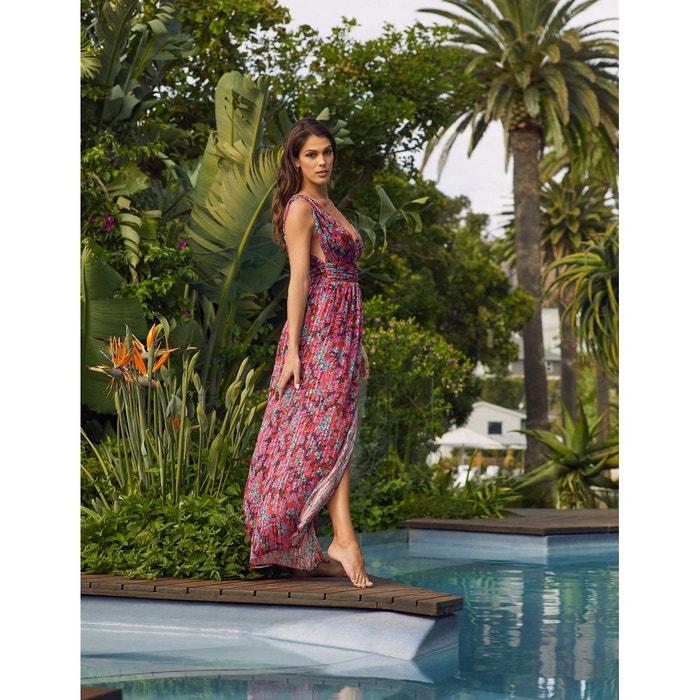 Robe Longue Evasee Fendue Imprime Floral Multico Morgan La Redoute