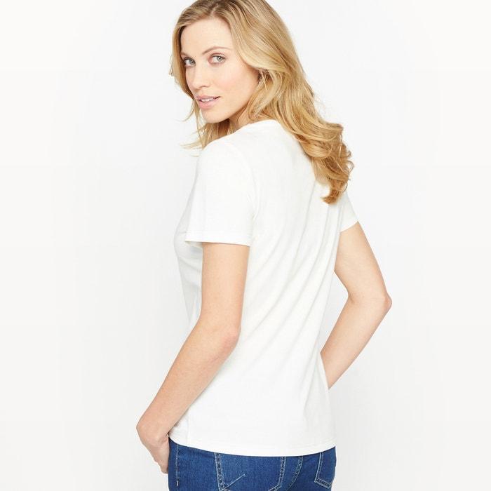 cuello corta redondo Camiseta y ANNE lisa con WEYBURN manga IqFxS8wCX