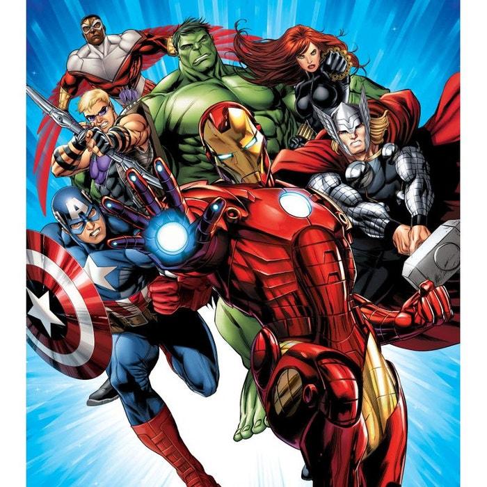 Papier Peint Xl Avengers Marvel 180x202 Cm Multicolor Walltastic