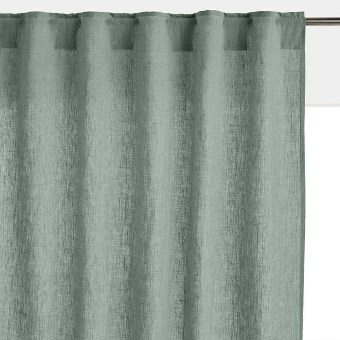 rideau lin lav finition pattes cach es onega la redoute. Black Bedroom Furniture Sets. Home Design Ideas