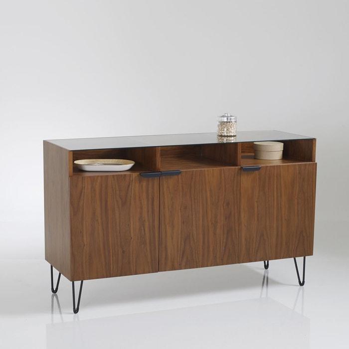 buffet vintage 3 portes 3 niches watford noyer la redoute interieurs la redoute. Black Bedroom Furniture Sets. Home Design Ideas