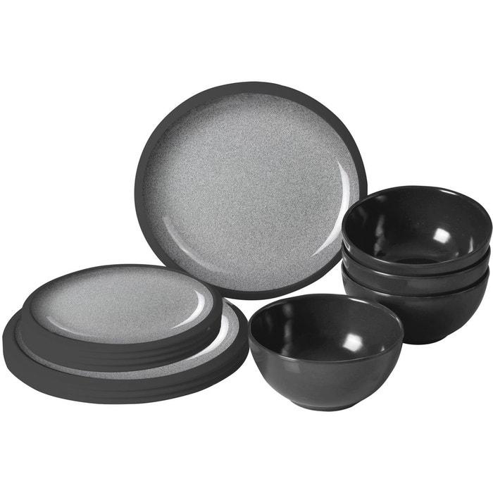 Midday granyte vaisselle gris noir noir brunner la redoute - La redoute vaisselle ...