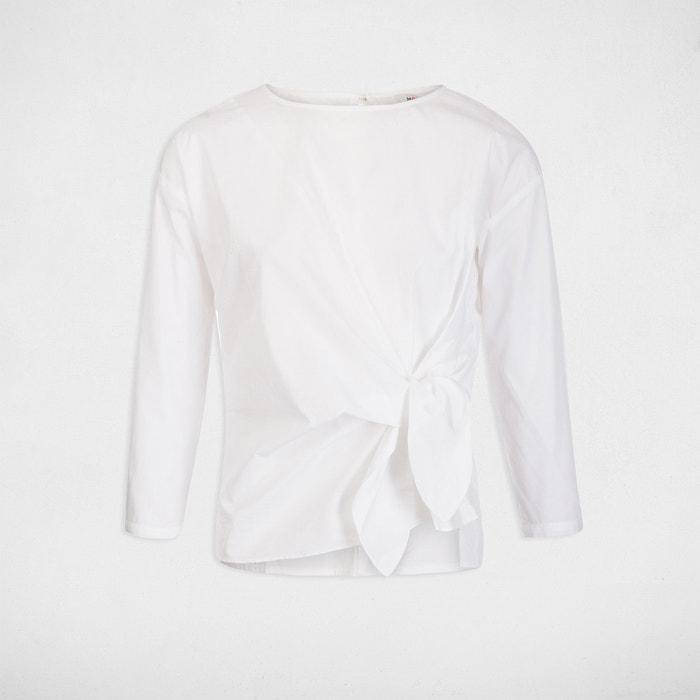 4 y cuello redondo lisa 3 con manga MORGAN Blusa recta ncOqWOZz