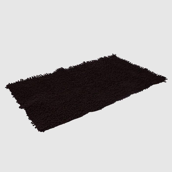 Tapis de salle de bain chenille noir noir instant d o - La redoute tapis salle de bain ...