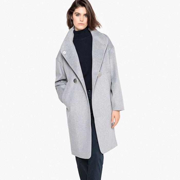Manteau long, col montant en laine mélangée  LA REDOUTE COLLECTIONS image 0