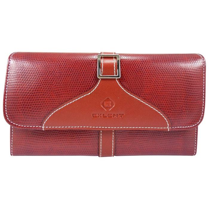 016922f12cfe Compagnon femme porte chéquier portefeuille talon haut motif peau croco  simili cuir Chaussmaro   La Redoute