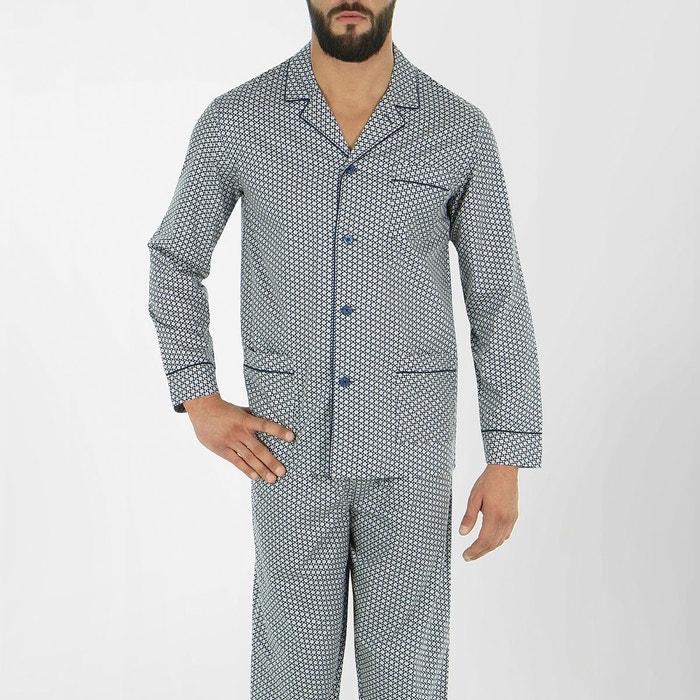 pyjama long ouvert homme dandy hexagones eminence la redoute. Black Bedroom Furniture Sets. Home Design Ideas