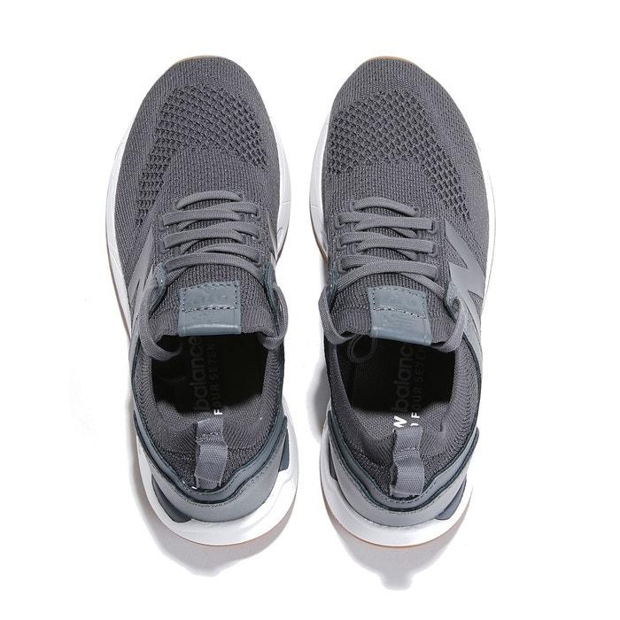 Baskets cuir gris anthracite New Balance
