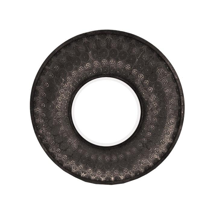 Miroir rond moucharabieh noir emde premium la redoute for Miroir emde deco