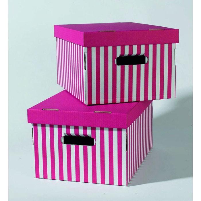 Lot de 2 bo tes shirt coloris rose vif rose compactor for Boite a couture la redoute