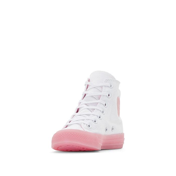 Baskets Montantes Ctas Hi Candy Coated Canvas, Blanc Rose