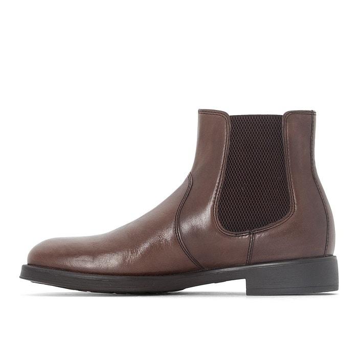 Boots cuir blade marron Geox