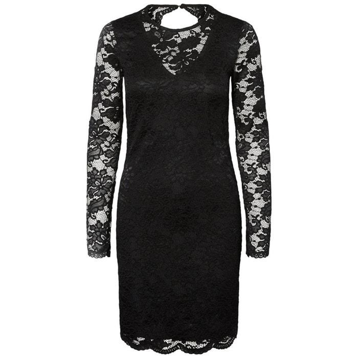 Kleid, gerade Form, uni, mit Spitze, 3/4-Länge  VERO MODA image 0