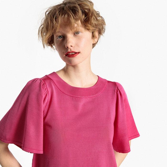 Korte trui in fijn tricot met wijde 3/4 mouwen  MADEMOISELLE R image 0
