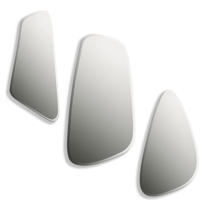 Miroir euredice ensemble de 3 miroirs verre am pm la for Miroir forme fenetre