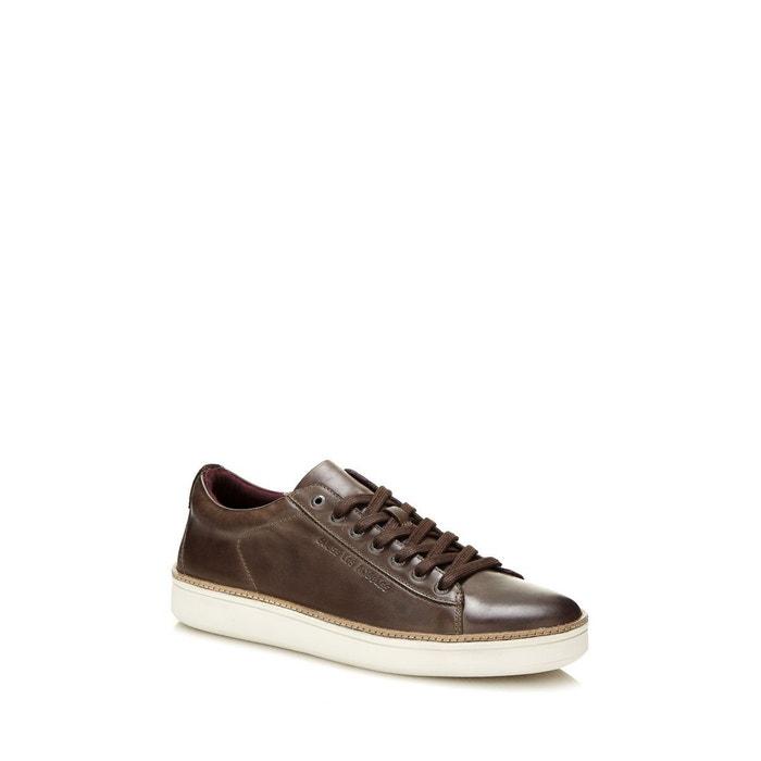 Sneakers ethan en cuir gris Guess