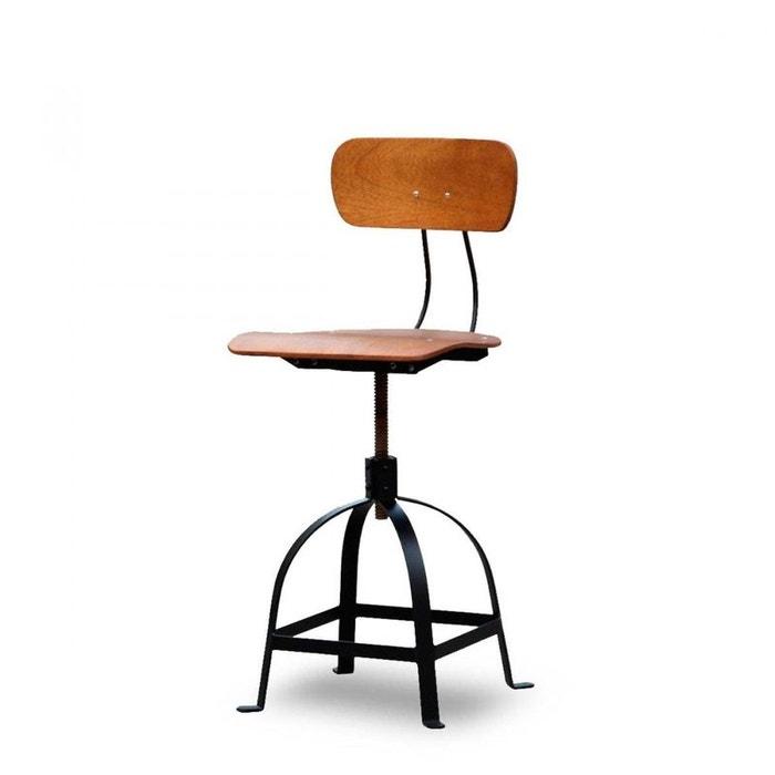 chaise architecte industrielle jb pennel noir drawer la redoute. Black Bedroom Furniture Sets. Home Design Ideas