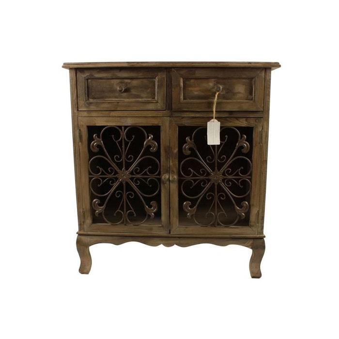 meuble confiturier rangement bois 2 tiroirs 75x39x81cm marron decoration d autrefois la redoute. Black Bedroom Furniture Sets. Home Design Ideas