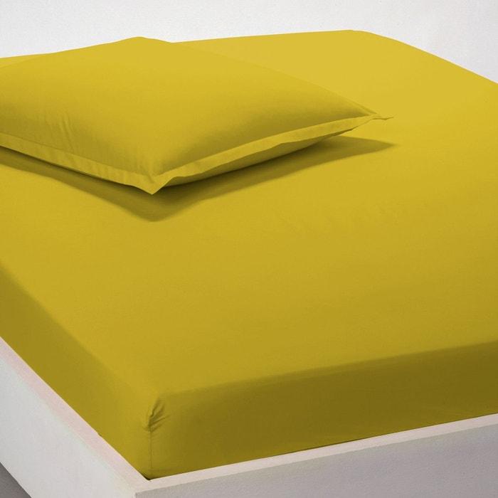 drap housse percale unie la redoute interieurs la redoute. Black Bedroom Furniture Sets. Home Design Ideas