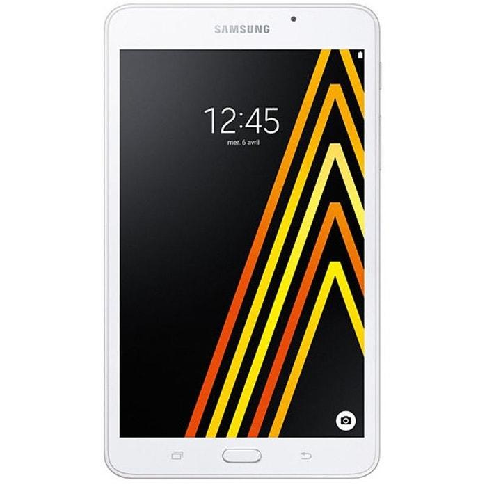 tablette samsung galaxy tab a6 7 4g blanc blanc samsung. Black Bedroom Furniture Sets. Home Design Ideas