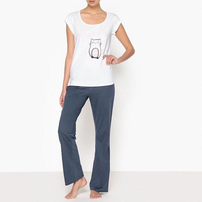 Pyjama en coton, motif chat  LA REDOUTE COLLECTIONS image 0