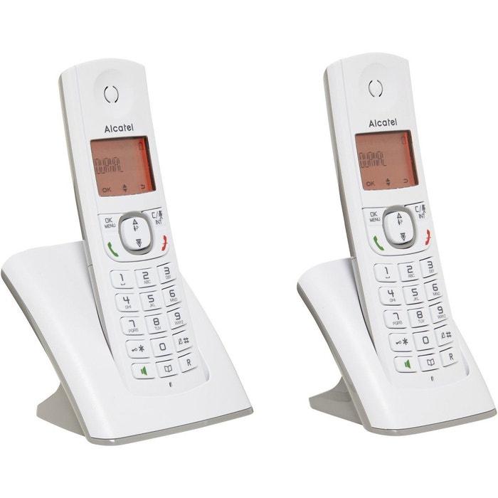 t l phone sans fil alcatel f530 duo grey alcatel la redoute. Black Bedroom Furniture Sets. Home Design Ideas