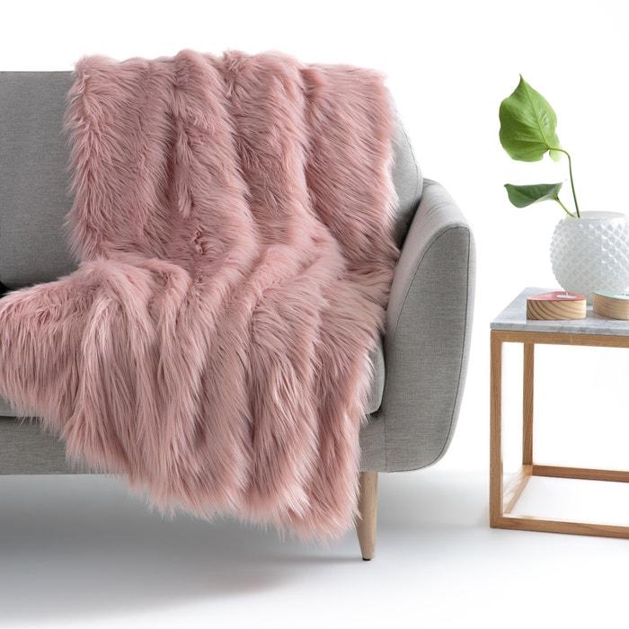 plaid met bontaspect livio la redoute interieurs la redoute. Black Bedroom Furniture Sets. Home Design Ideas